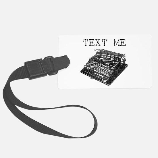 Text Me vintage typewriter Large Luggage Tag