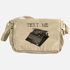 Text Me vintage typewriter Messenger Bag