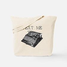 Text Me vintage typewriter Tote Bag