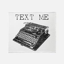 Text Me vintage typewriter Throw Blanket