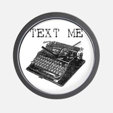 Text Me vintage typewriter Wall Clock