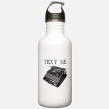 Text Me vintage typewriter Water Bottle