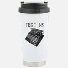 Text Me vintage typewriter Travel Mug