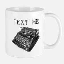 Text Me vintage typewriter Mug
