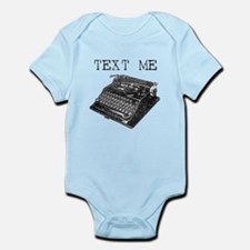 Text Me vintage typewriter Infant Bodysuit