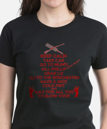 Zombie Keep Calm T-Shirt Women's Dark T-Shirt