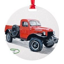 Antique Power Wagon Ornament