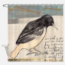Black Bird Singing - Shower Curtain