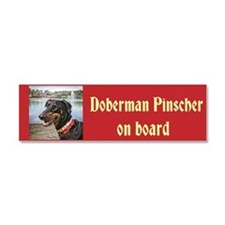 Doberman at Lake Ella Car Magnet 10 x 3