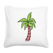 Palm Tree Square Canvas Pillow