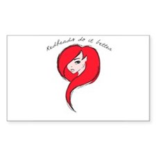 Redheads Do It Better Decal