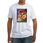 Angel3-Cocker 1 Fitted T-Shirt
