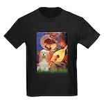 Angel3-Cocker 1 Kids Dark T-Shirt