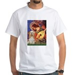 Angel3-Cocker 1 White T-Shirt