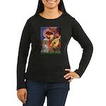 Angel3-Cocker 1 Women's Long Sleeve Dark T-Shirt