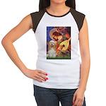 Angel3-Cocker 1 Women's Cap Sleeve T-Shirt