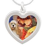 Angel3-Cocker 1 Silver Heart Necklace
