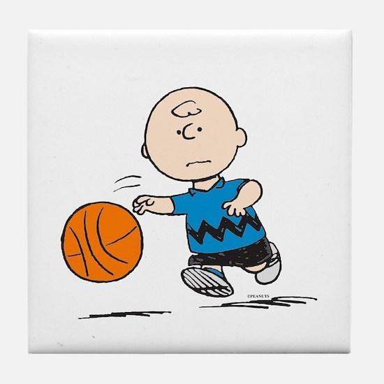 Basketballer Brown Tile Coaster