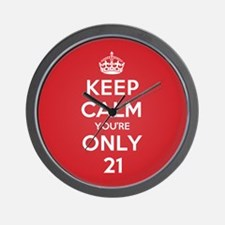 K C Youre Only 21 Wall Clock