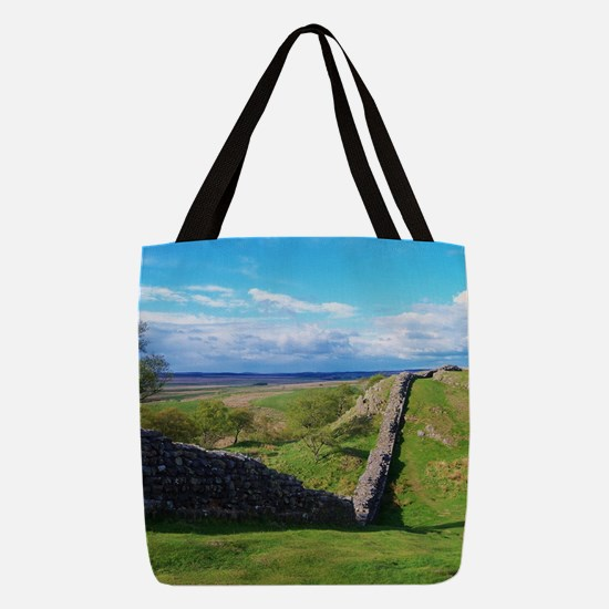 Hadrian's Wall Polyester Tote Bag