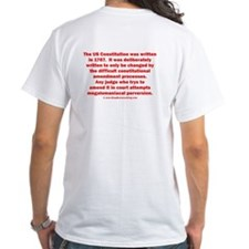 Constitution is supposed to be dead, Jim. Shirt