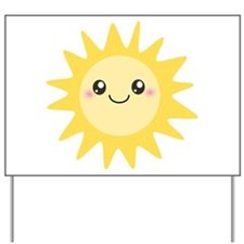 Cute happy sun Yard Sign