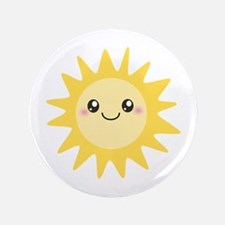 "Cute happy sun 3.5"" Button (100 pack)"