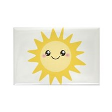Cute happy sun Rectangle Magnet