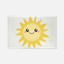 Cute happy sun Rectangle Magnet