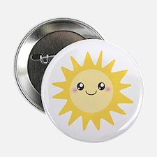 """Cute happy sun 2.25"""" Button"""