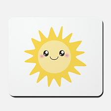 Cute happy sun Mousepad