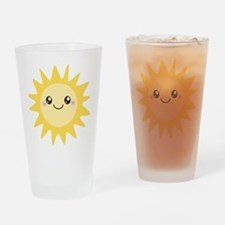 Cute happy sun Drinking Glass
