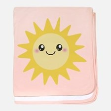 Cute happy sun baby blanket