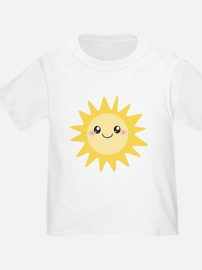 Cute happy sun T