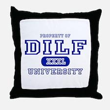 DILF University Throw Pillow