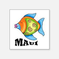 "Maui Square Sticker 3"" x 3"""