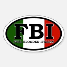 Full Blooded Italian Oval Decal