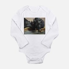 Two Black Angus Long Sleeve Infant Bodysuit