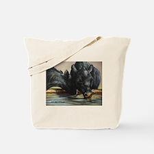 Two Black Angus Tote Bag