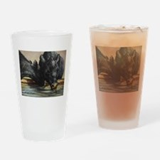 Two Black Angus Drinking Glass