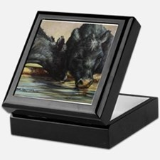 Two Black Angus Keepsake Box