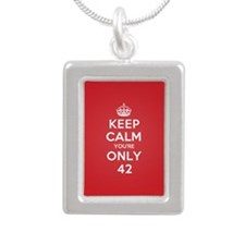 K C Youre Only 42 Silver Portrait Necklace