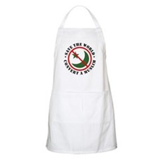Save the World, Convert a Muslim BBQ Apron