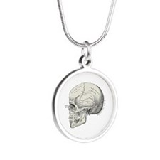 Skull Silver Round Necklace