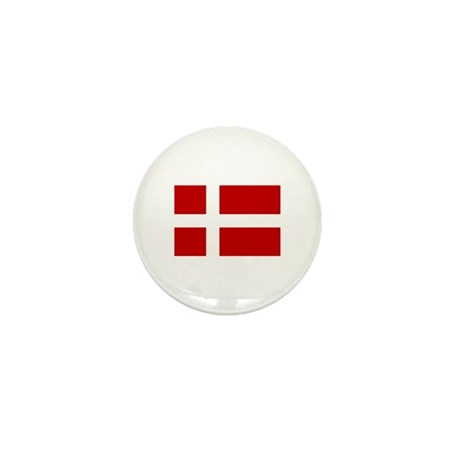 Danish Flag Mini Button (10 pack)