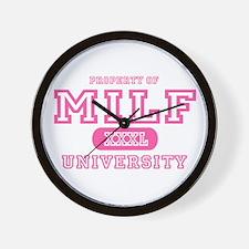 MILF University T-Shirts Wall Clock