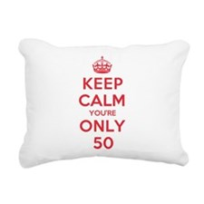 K C Youre Only 50 Rectangular Canvas Pillow