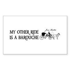 My Other Ride Is A Barouche Decal