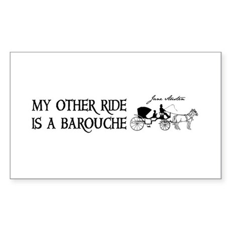 My Other Ride Is A Barouche Sticker (Rectangle)