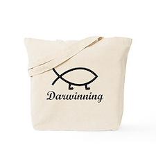 Darwinning Evolution Darwin Fish Tote Bag
